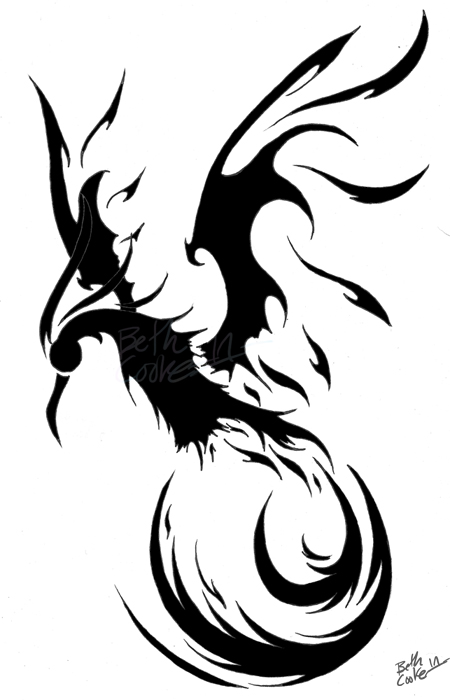 Ave fenix tribal pictures to pin on pinterest tattooskid for Fenix tribal tattoo