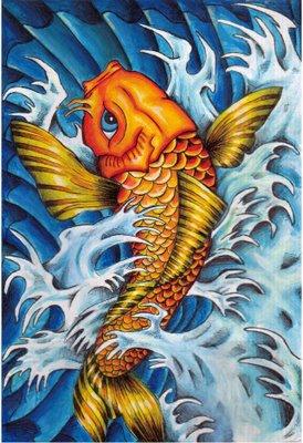 pez koi memorias de una persona ilustrada