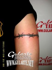 Tattoo-Brazalete-Alambre-de-Púas